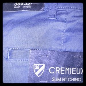 NWT 35×32 Men blue Daniel Cremieux chino